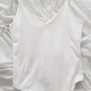 GAZE white thin strap bodysuit size M - worn once!